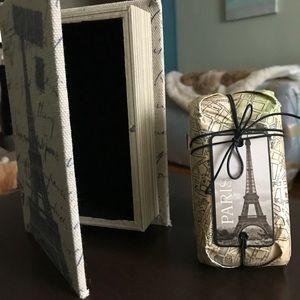 Accessories - PARIS themed Jewelry box and candle set - NEW!